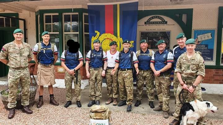 Royal Marines veterans take on the infamous 9-mile speed march